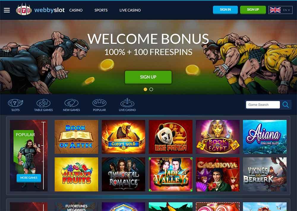 webbyslot casino lobby